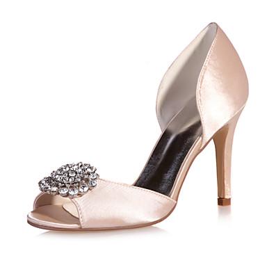 Mujer Zapatos Satén Primavera / Verano Tacón Stiletto Morado / Champaña / Marfil / Boda / Fiesta y Noche Sortie Nouvelle Arrivée Jeu Eastbay W7VxfYm