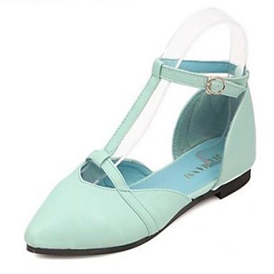 b9c4423eee8 Sandály - Koženka - Špičatá špička - Dámská obuv - Modrá   Růžová   Bílá -  Běžné - Nízký podpatek 4233481 2019 –  19.99