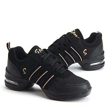 preiswerte Tanz Sneaker-Damen Tanzschuhe Leder / Stoff Tanz-Turnschuh / Ballsaal Sneaker Blockabsatz Keine Maßfertigung möglich Rosa / Gold / Lila / EU41