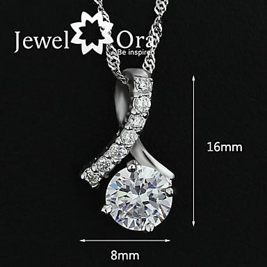 Hänge Halsband Vintage Fest Kontor Ledigt Sterlingsilver Bergkristall Silver Skärmfärg Halsband Smycken Till