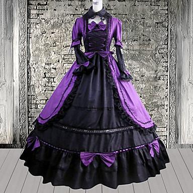 Klänningar Söt Lolita lolita tillbehör Klänning Cotton Halloweenkostymer / Medium längd