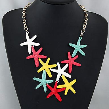 povoljno Modne ogrlice-Žene Izjava Ogrlice morska zvijezda dame Europska Moda Legura zaslon u boji Ogrlice Jewelry Za