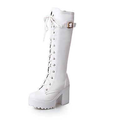 Mujer Botas hasta botas la rodilla Semicuero Otoño / Invierno botas hasta slouch 1a9578