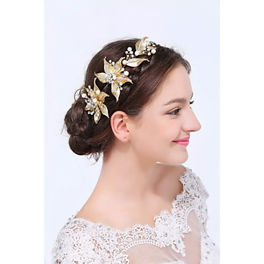 povoljno Party pokrivala za glavu-Zlatno / Legura Trake za kosu s 1 Vjenčanje / Special Occasion / Kauzalni Glava