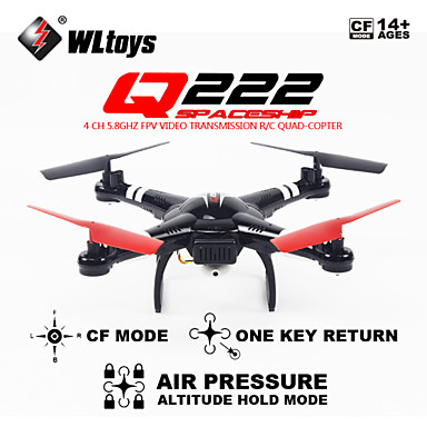 [$59 99] RC Drone WL Toys Q222 4CH 6 Axis 5 8G With HD Camera RC Quadcopter  Headless Mode 360°Rolling Gather Flight Data Ground Station Hover