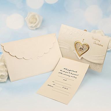 billige Festsuvenirer og gaver-Tre Fold Bryllupsinvitasjoner 50 - Andre / Invitasjonskort Klassisk Materiale / Perle-papir Blomst