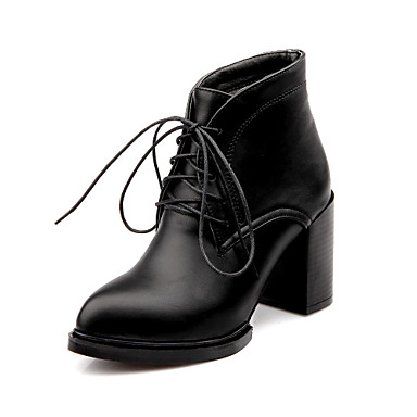 Women's Shoes Chunky Heel Combat Boots/Pointed Toe Boots Casual Black/Gray/ Burgundy 4273142 2018 – $44.99