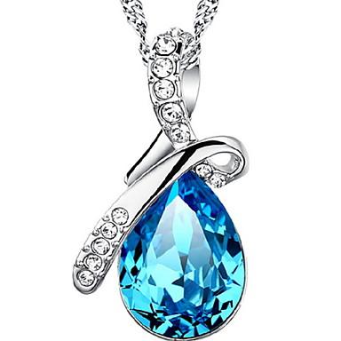 levne Dámské šperky-Dámské Vintage náhrdelník Hruška simulované Kapka Vodnář dámy Módní Stříbro Slitina Námořnická modř Náhrdelníky Šperky Pro Denní Ležérní Sport