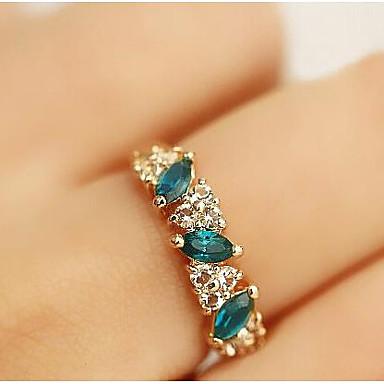 levne Dámské šperky-Dámské Vyzvánění Křišťál Syntetický smaragd Zlatá Štras Umělé diamanty Slitina dámy Klasické Denní Ležérní Šperky Klastr Budoucnost budoucnosti Vodnář