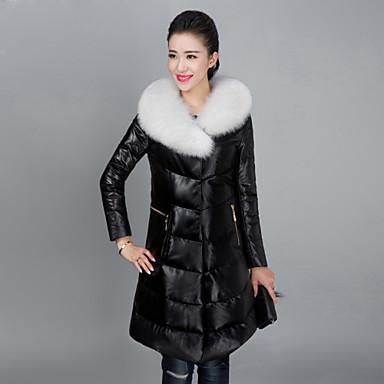 4a110d273f Women's Fashion Bodycon Fox Fur Spliced Genuine/Real Sheepskin/Real Leather  Down Jacket/Coat 4256411 2019 – $1,319.60