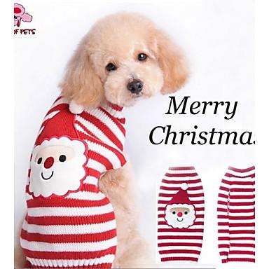 Katt / Hund Dräkter / Kostymer / Kappor / Tröjor Hundkläder Rand / Tecknat Blandat Material Kostym För husdjur Herr / Dam Cosplay / Halloween / Jul