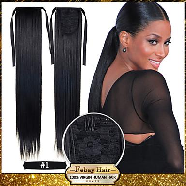 levne Culíky-Culíky a copy Umělé vlasy Hair kus Prodlužování vlasů Volný / Rovné