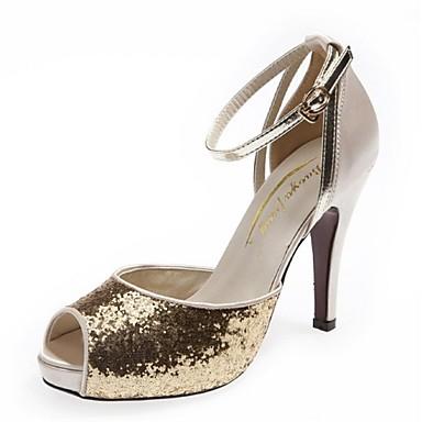 cheap VICONE-Women's Party Heels Stiletto Heel / Platform Sequin Glitter Spring / Summer Red / Silver / Gold / Wedding / Party & Evening