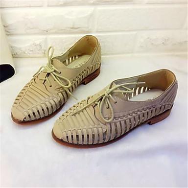Zapatos marrones de verano de punta redonda casual para mujer  Zapatillas de Deporte Mujer sy5CCdE