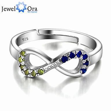 tumring Skärmfärg Sterlingsilver Silver Ovanligt Unik design Smycken