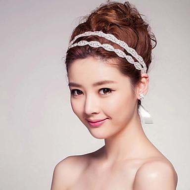 Varmt hett stil exklusivt dubbelt bälte av diamanthår tiara huvudbandstillbehör