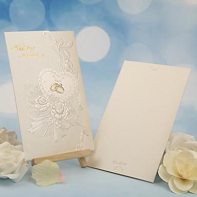 Trippelvikt Bröllopsinbjudningar 50 - Andra / Inbjudningskort Klassisk Material / Pärlpapper Blomma