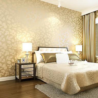 Contemporary Wallpaper Art Deco 3D Leaf Wallpaper Wall Covering Non ...