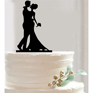 Bride Groom Silhouette Wedding Cake Topper Personalize Accessory Fondant Decorations Tools Acrylic Couple 4502105 2017 279