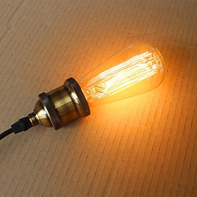 1st 40 W 300 lm E26 / E27 ST58 1 LED-pärlor Dekorativ Varmvit 220-240 V