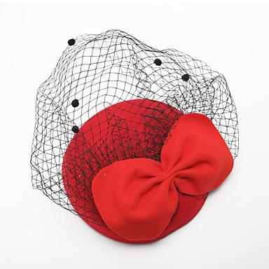povoljno Party pokrivala za glavu-Til / Velvet Vjeverica kose s 1 Vjenčanje / Special Occasion Glava