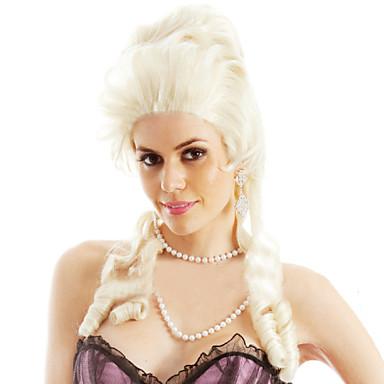 billige Kostymeparykk-Syntetiske parykker Løse bølger Stil Parykk Blond Medium Lengde Blond Syntetisk hår Dame Blond Parykk