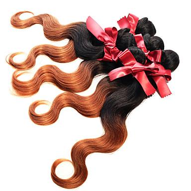 Brasilianskt hår Kroppsvågor 8A Nyans Hårförlängning av äkta hår Människohår förlängningar