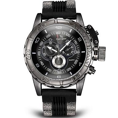 levne Pánské-V6 Pánské Vojenské hodinky Náramkové hodinky Letecké hodinky Křemenný Japonské Quartz Silikon Černá / Bílá / Modrá Logaritmické pravítko Analogové Přívěšky - Černá Šedá Modrá Dva roky Životnost
