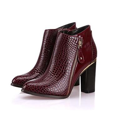 a6fa9a863af8b Chaussures Femme - Bureau   Travail   Habillé   Soirée   Evénement - Noir    Bleu   Rouge - Gros Talon - Talons   Bottine - Talons   Bottes de 4445753  2019 à ...