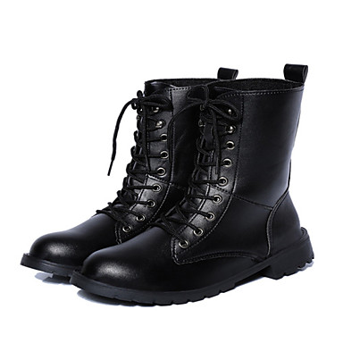 Women's Shoes Leatherette Chunky Heel Fashion Boots / Bootie / Round Toe / Closed  Toe Boots Outdoor / Casual Black 4496215 2018 – $25.80