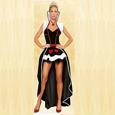 Prinsessa Sagolikt Cosplay Kostymer / Dräkter Festklädsel Dam Mer uniformer Halloween Karnival Nyår Festival / högtid Polyester Dam Karnival Kostymer Lappverk / Topp / Huvudbonad