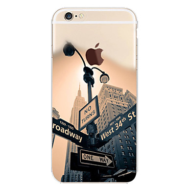 povoljno iPhone maske-Θήκη Za Apple iPhone 6s Plus / iPhone 6s / iPhone 6 Plus Uzorak Stražnja maska Krajolik / Pogled na grad Mekano TPU