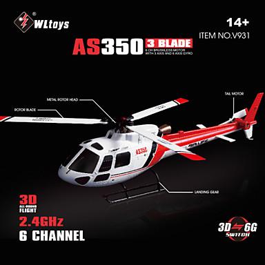 cheap RC Helicopters-WLtoys V931 6CH RC Helicopter 2.4GHz Brushless Motor Support V966/V977 Transmitter RTF
