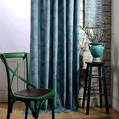 skräddarsydda blackout gardiner draperar två paneler för sovrum