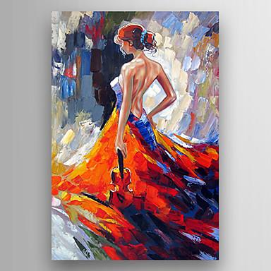 Hang målad oljemålning HANDMÅLAD - Känd Moderna Inkludera innerram / Sträckt kanfas