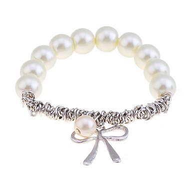 levne Dámské šperky-Dámské Náramky s přívěšky Napodobenina perel Náramek šperky Stříbrná / Zlatá Pro Vánoční dárky Párty Denní Ležérní