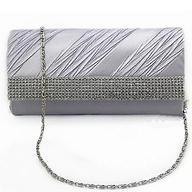 716f032c63 Τσάντα Φάκελος   Βραδινή τσάντα - Γυναικείο - Μετάξι - Φάκελος - Λευκό    Χρυσό   Γκρι   Μαύρο 4458405 2019 –  12.99