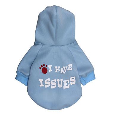 Katt Hund Huvtröjor Hundkläder Bokstav & Nummer Blå Cotton Kostym Till Vår & Höst Vinter Herr Dam Mode