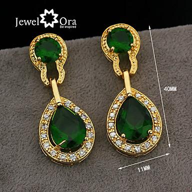 povoljno Modne naušnice-Žene Viseće naušnice Dragi kamen Pozlaćeni Naušnice Jewelry Svijetlo siva Za