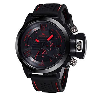 b728b2890ca Pánské Sportovní hodinky Náramkové hodinky Křemenný Voděodolné Silikon  Kapela Černá Žlutá Červená Zelená Modrá 4499464 2018 –  9.99