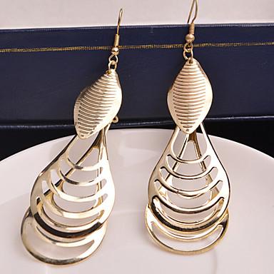 Dam Dropp Örhängen Hängande örhängen Statement damer Personlig Europeisk örhängen Smycken Silver / Brun Till Bröllop Party Speciellt Tillfälle Dagligen Casual