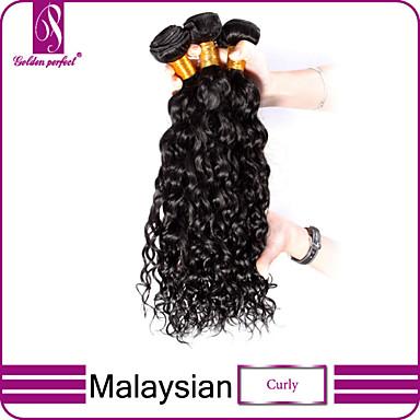 povoljno Ekstenzije od ljudske kose-3 paketa Malezijska kosa Kovrčav Klasika Virgin kosa Ljudske kose plete Isprepliće ljudske kose Proširenja ljudske kose / 10A