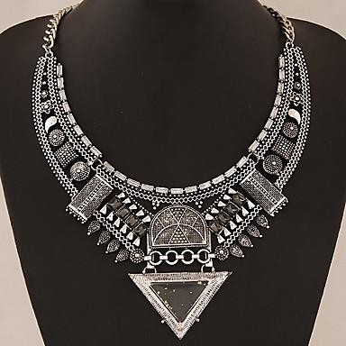 povoljno Modne ogrlice-Žene Ogrlice-kragna Izjava Ogrlice Statement dame Azijski Europska Sintetički gemstones Legura Zlato Pink Ogrlice Jewelry Za