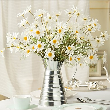 povoljno Umjetno cvijeće & Vases-Svila Pastoral Style Buket Cvjeće za stol Buket 1
