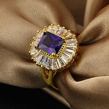 Dam Bandring Purpur Guldpläterad Mode Elegant Party Smycken
