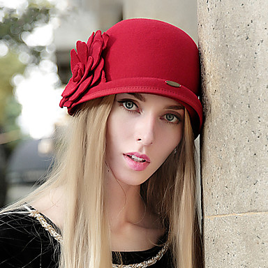 Mujer Boina Francesa Vintage   Bonito   Fiesta   Casual - Invierno - Lana  4594792 2019 –  34.64 adad6f097b9