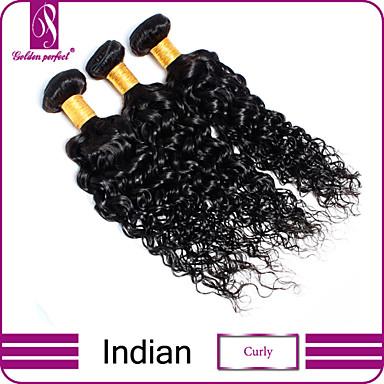 povoljno Ekstenzije od ljudske kose-3 paketa Indijska kosa Kovrčav Klasika Kovrčavog tkanja Virgin kosa Ljudske kose plete Isprepliće ljudske kose Proširenja ljudske kose / 10A