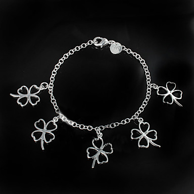 Dam Kedje & Länk Armband Broscher Kärlek Sterlingsilver Armband Smycken Silver Till Bröllop Party Dagligen Casual