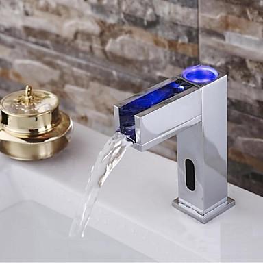 vandhane med sensor Moderne Vandret Montering Sensor with Magnetventil Håndfri Et Hul  vandhane med sensor