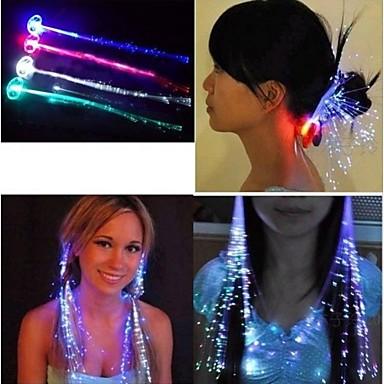 povoljno Svjetlosni nakit-Muškarci Žene Par je Povećalo sa svjetlom Svjetleći Opeka Trake za kosu Tiaras Vjenčanje Party